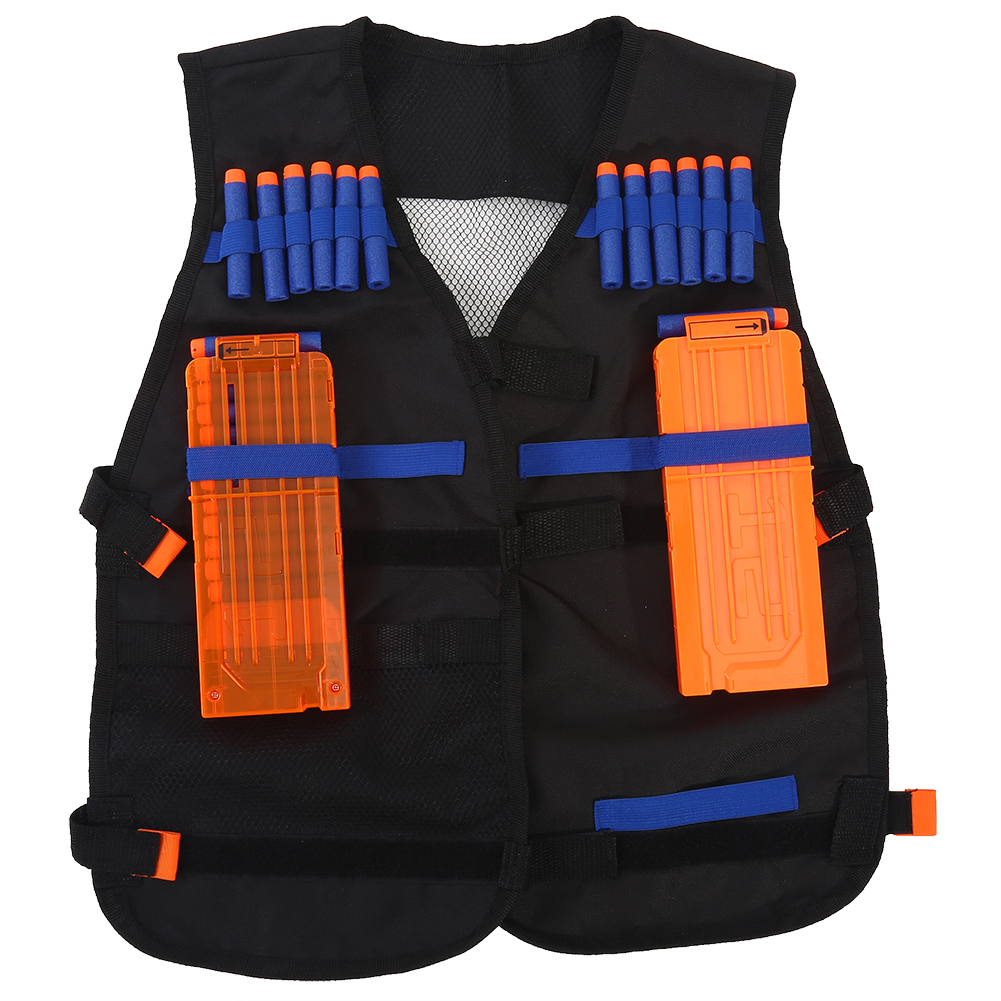 Adjustable Oxford Tactic Armor Vest With Reload Clips & Bullet Darts Supplies by