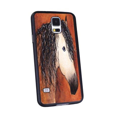 Black Buckskin - KuzmarK Samsung Galaxy S5 Black Cover Case - Buttermilk Buckskin Quarter Horse Abstract Art by Denise Every