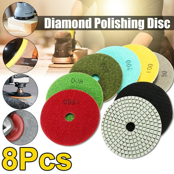 Diamond Polishing Pad 5 inch Wet//Dry 60 /& 2 Backer Marble Granite Concrete stone