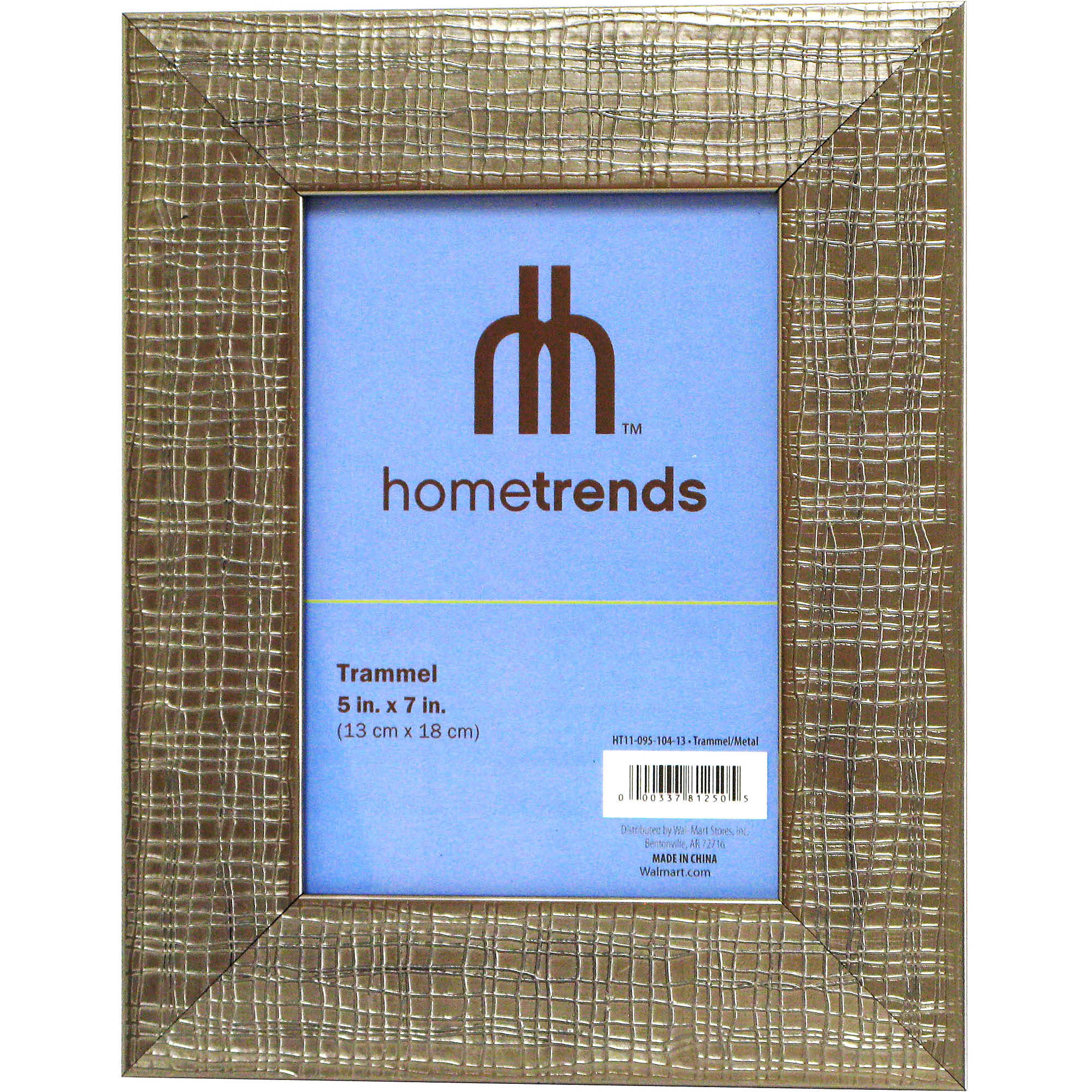 "Home Trends Trammel 5"" x 7"" Photo Frame, Metal Finish, Set of 2"