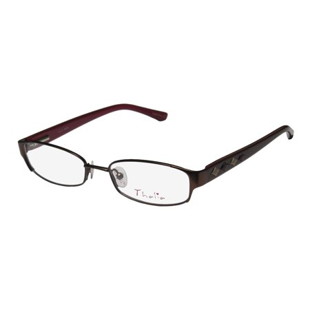 3551554e08 New Thalia Moda Womens Ladies Designer Full-Rim Brown Durable Spectacular  Full-rim Hip Frame Demo Lenses 46-16-125 Flexible Hinges Eyeglasses Eye  Glasses