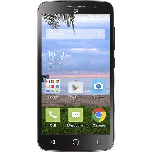 Refurbished Alcatel A846L POP Icon  2 Black Prepaid Smartphone Straight Talk