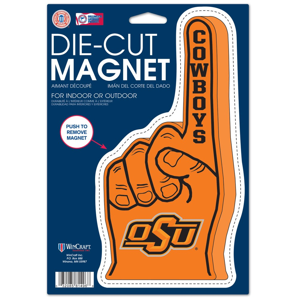 Oklahoma State Cowboys Official NCAA 6.25 inch  x 9 inch  Die Cut Car Magnet by Wincraft