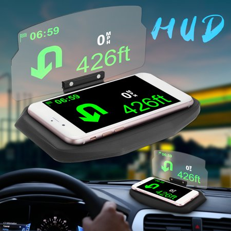 6.5 inch HUD Screen Head Up Display Car GPS Navigation Mobile Phone
