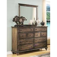 Fortuna Weathered Brown Dresser & Mirror