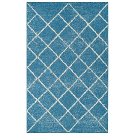 Superior Lattice Collection with 6mm Pile and Jute Backing, Moisture Resistant and Anti-Static Indoor Area Rug
