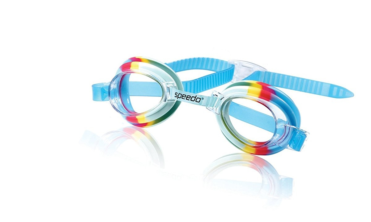 Speedo Kids Tye-Dye Splasher Goggle Kids Swim Goggle Rainbow Cool by Speedo