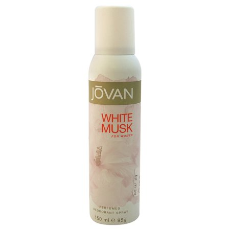 Jovan White Musk Perfumed Deodorant Spray for Women, 5 Oz