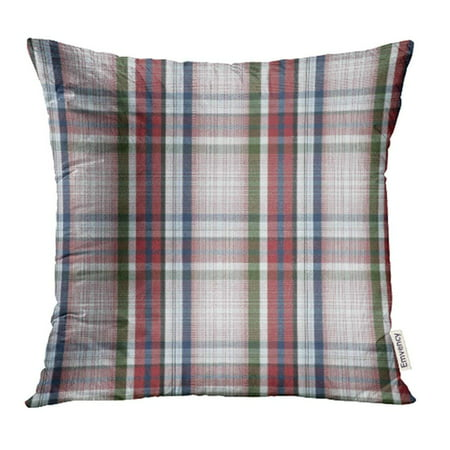 ARHOME Green Dark Plaid Pattern Blue Country Table Vintage Black Closeup Color Pillow Case Pillow Cover 16x16 inch Throw Pillow Covers