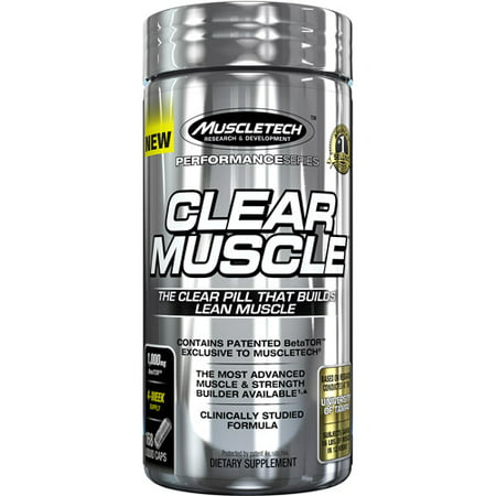 MuscleTech Active Nutrition Performance Series Clear Muscle Dietary Supplement Liquid Caps, 1,000mg, 168