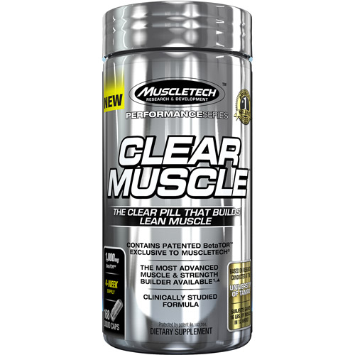 MuscleTech Active Nutrition Performance Series Clear Muscle Dietary Supplement Liquid Caps, 1,000mg, 168 pills