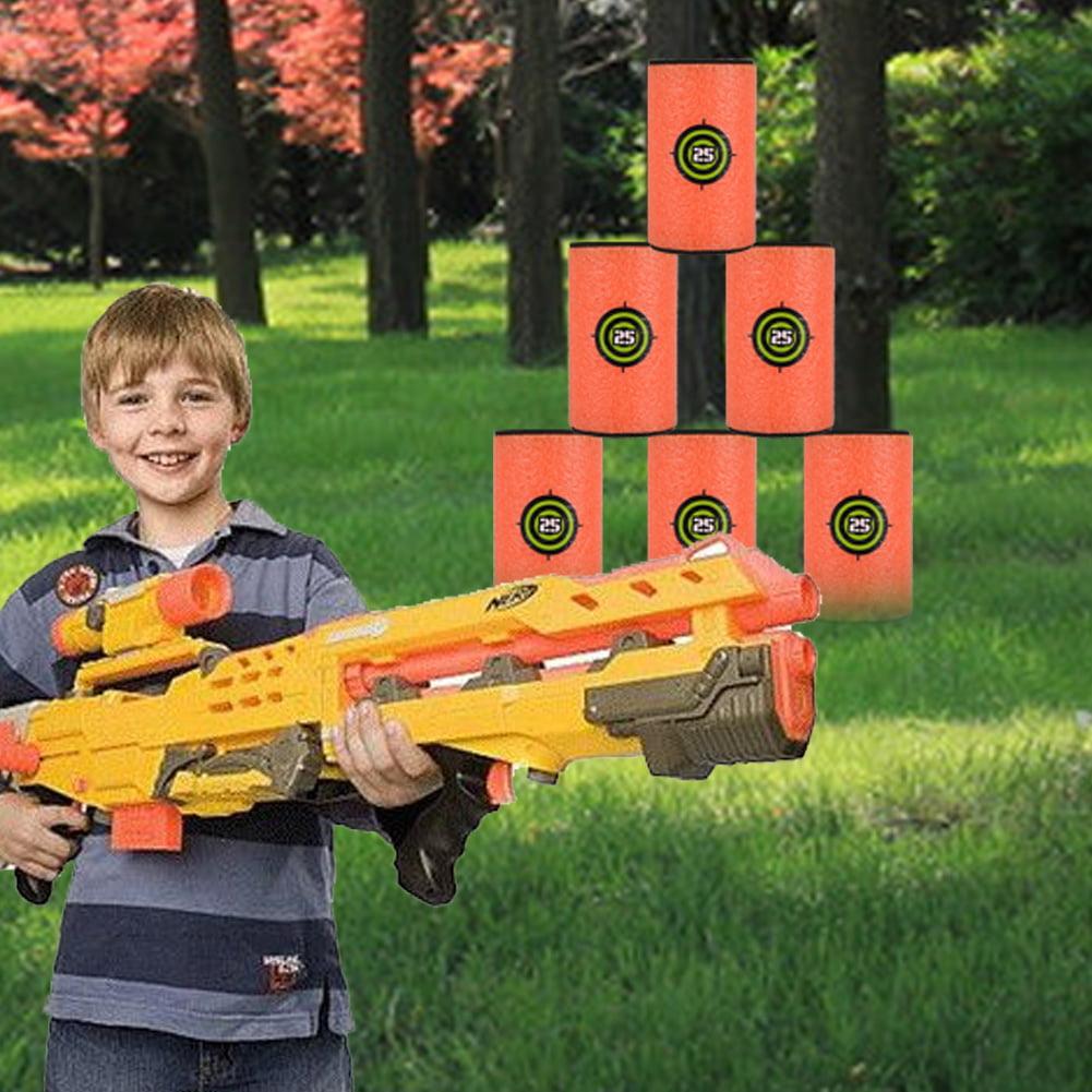 6Pcs Large Size EVA Soft Kids Toy Gun Bullet Targets,EVA Soft Targets, Gun Toy Targets