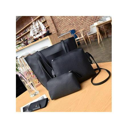 7050b9976d48 Meigar 4pcs Women Handbag Lady Shoulder Bags Tote Purse Messenger Satchel  Set - Walmart.com