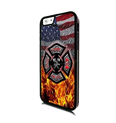 Ganma Thin Red Line Fire Fighter Department Rubber Case For iPhone 5C