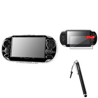 Insten Clear Crystal Case+Screen Protector+ Touch Screen Black Stylus for Sony PS Vita