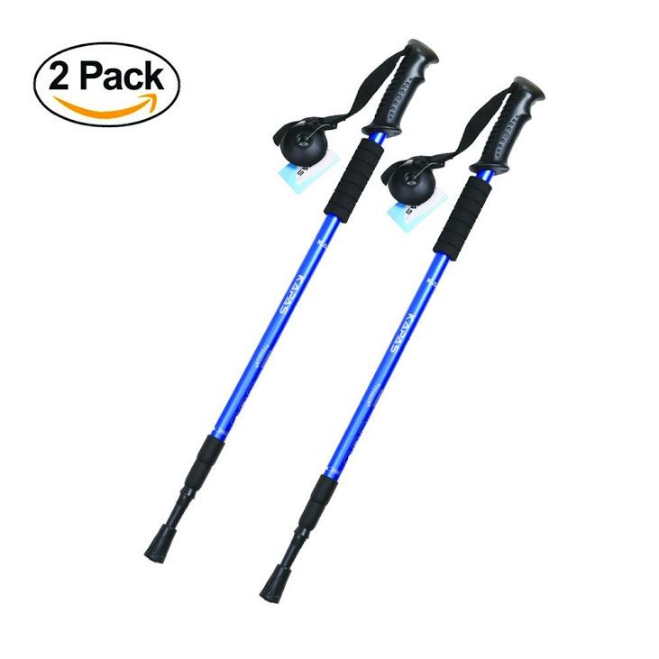 Trekking Poles, Kapas [2 Pack] Outdoor Ultralight, Adjustable Height, Anti-Shock, Trekking Trail Poles for Trekking,... by