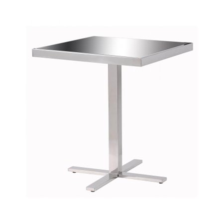 Kenroy Home 65001SSTL Prep Accent Table, Stainless Steel by