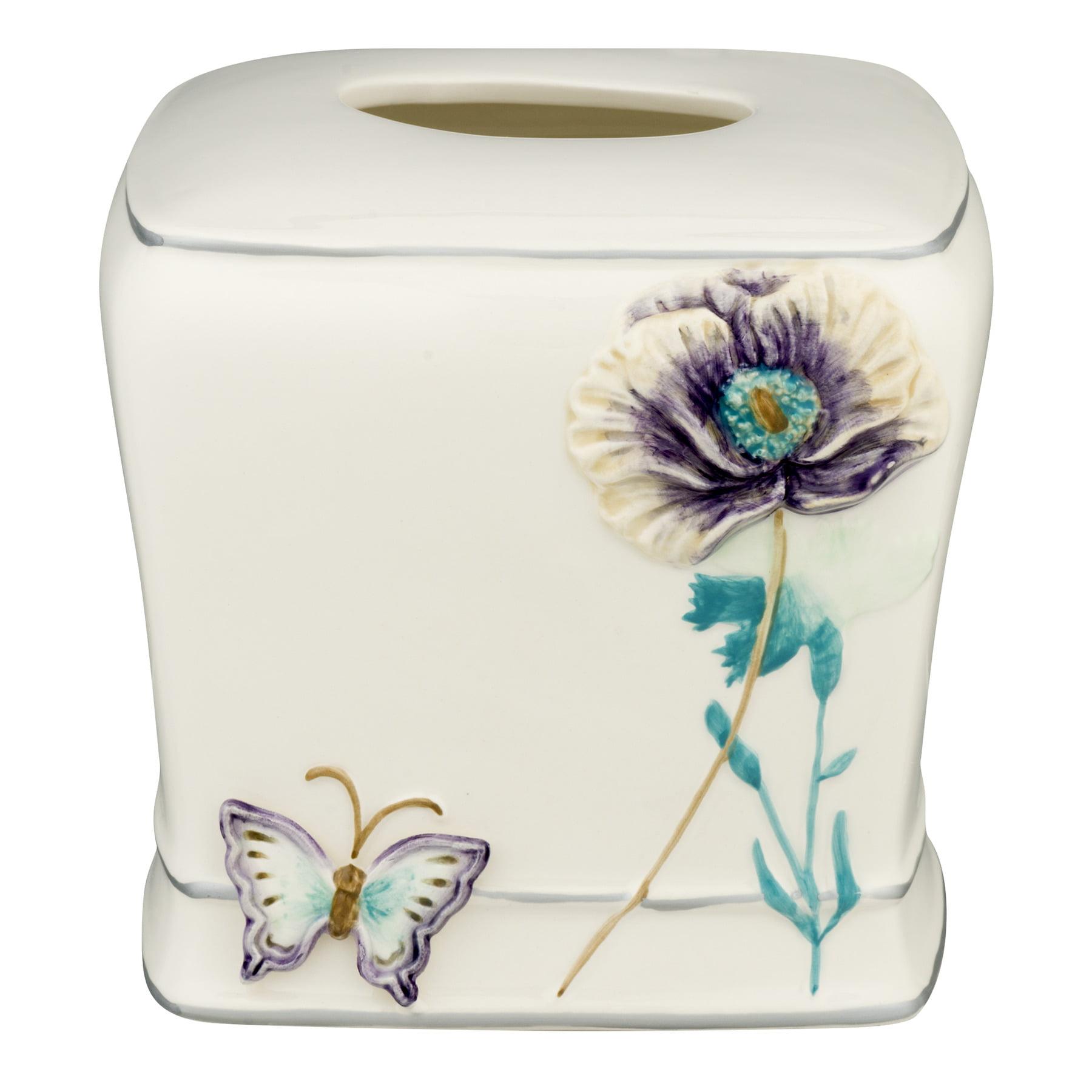 Creative Bath Garden Gate Ceramic Tissue Holder, Lilac, 1.0 CT