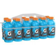 Gatorade Thirst Quencher Sports Drink, Cool Blue, 12 oz Bottles, 12 Count
