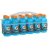 Gatorade Thirst Quencher Sports Drink, Cool Blue, 12 oz Bottles, 12 Count