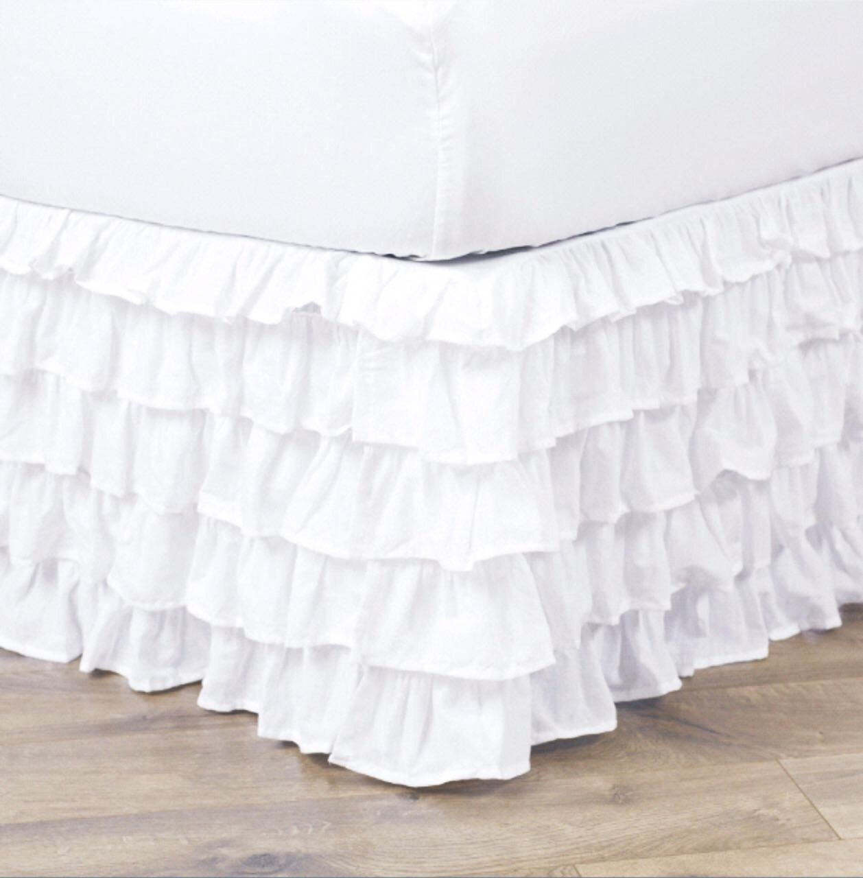 Empire Home Pleated Ruffled Bedskirt Solid Dust Ruffle All Sizes Full White by