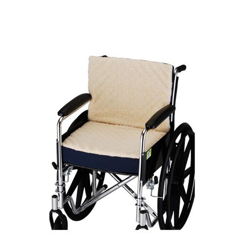 Nova Ortho-Med, Inc. 3'' Convoluted Seat and Back Foam Cushion with Cover for 18'' X 16'' Wheelchair