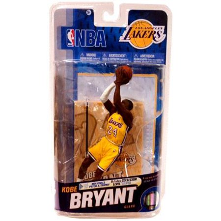 Kobe Bryant Action Figure NBA Logo & White Armband Los Angeles Lakers