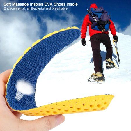 Herwey Soft Comfortable Massage Insoles EVA Shoes Insole Sneaker Insert Cushion, Shoes Cushion, Shoes Insert - image 4 of 8