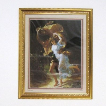 India Overseas Trading Mr3303   Painting With Frame And Glass Cover   Couple Running Holding A Blanket
