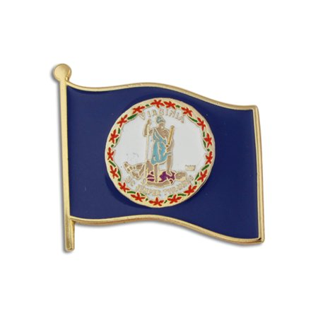Virginia US State Flag VA Enamel Lapel Pin 1