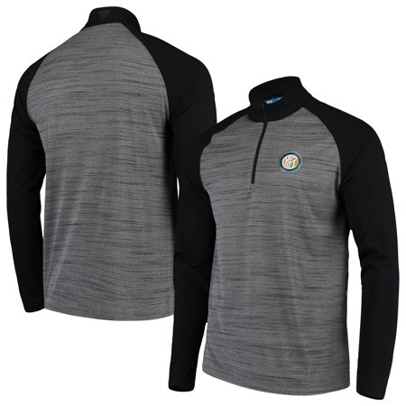 Inter Milan Levelwear 1/4-Zip Insigna Pullover Jacket - Heathered Gray