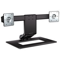 """HP Adjustable Dual Display Stand - Stand (stand base) for 2 LCD displays - screen size: up to 24"""" Computer Monitor Stand"""