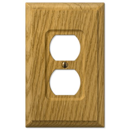 AmerTac 4025D Traditional Light Oak Wood Wall plate ()
