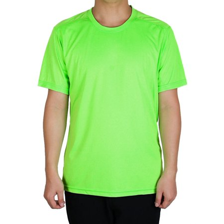 Running In The Dark Gear (Adult Men Breathable Short Sleeve Clothes Casual Wear Tee Jogging Running Sports T-shirt XL)