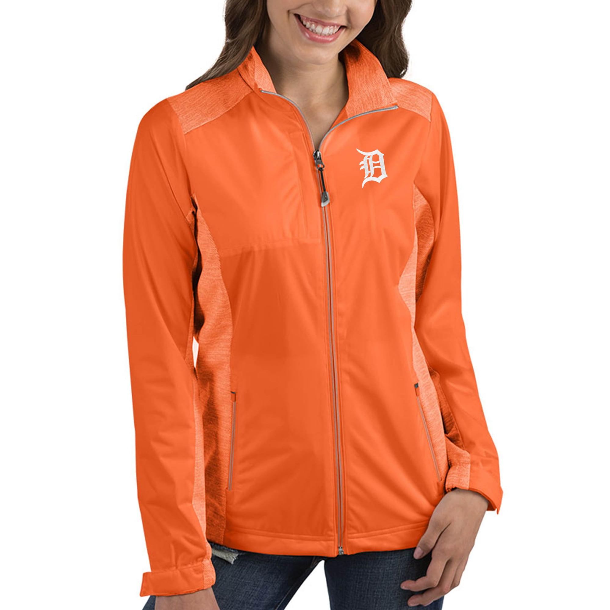 Detroit Tigers Antigua Women's Revolve Full-Zip Jacket - Orange