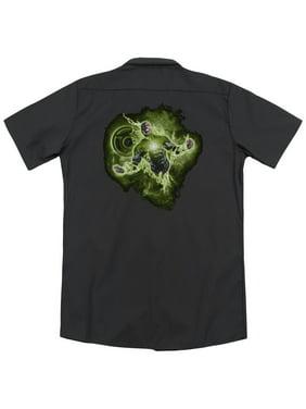 Green Lantern Lantern Nebula (Back Print) Mens Work Shirt
