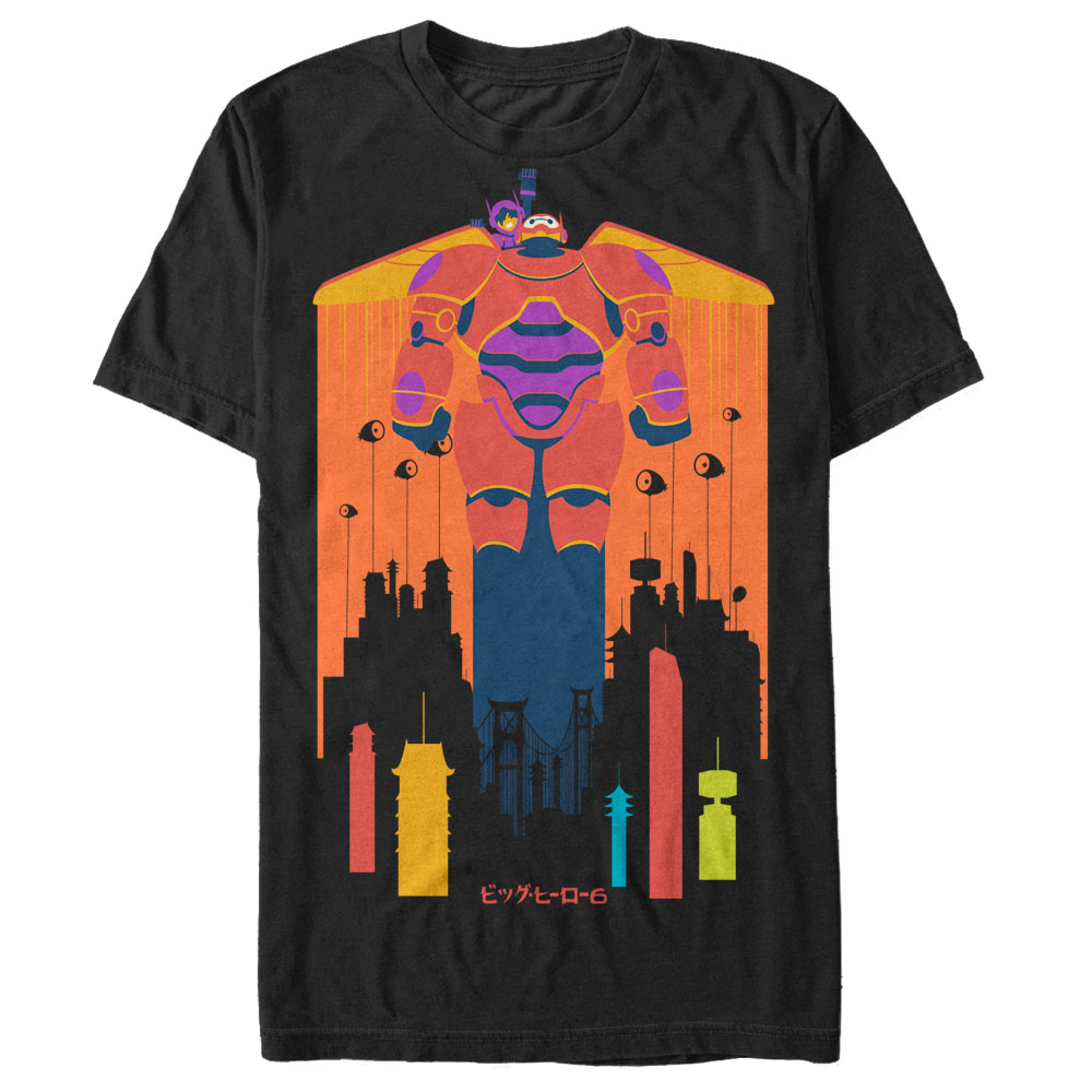Big Hero 6 Men's Baymax and Hiro Fly T-Shirt