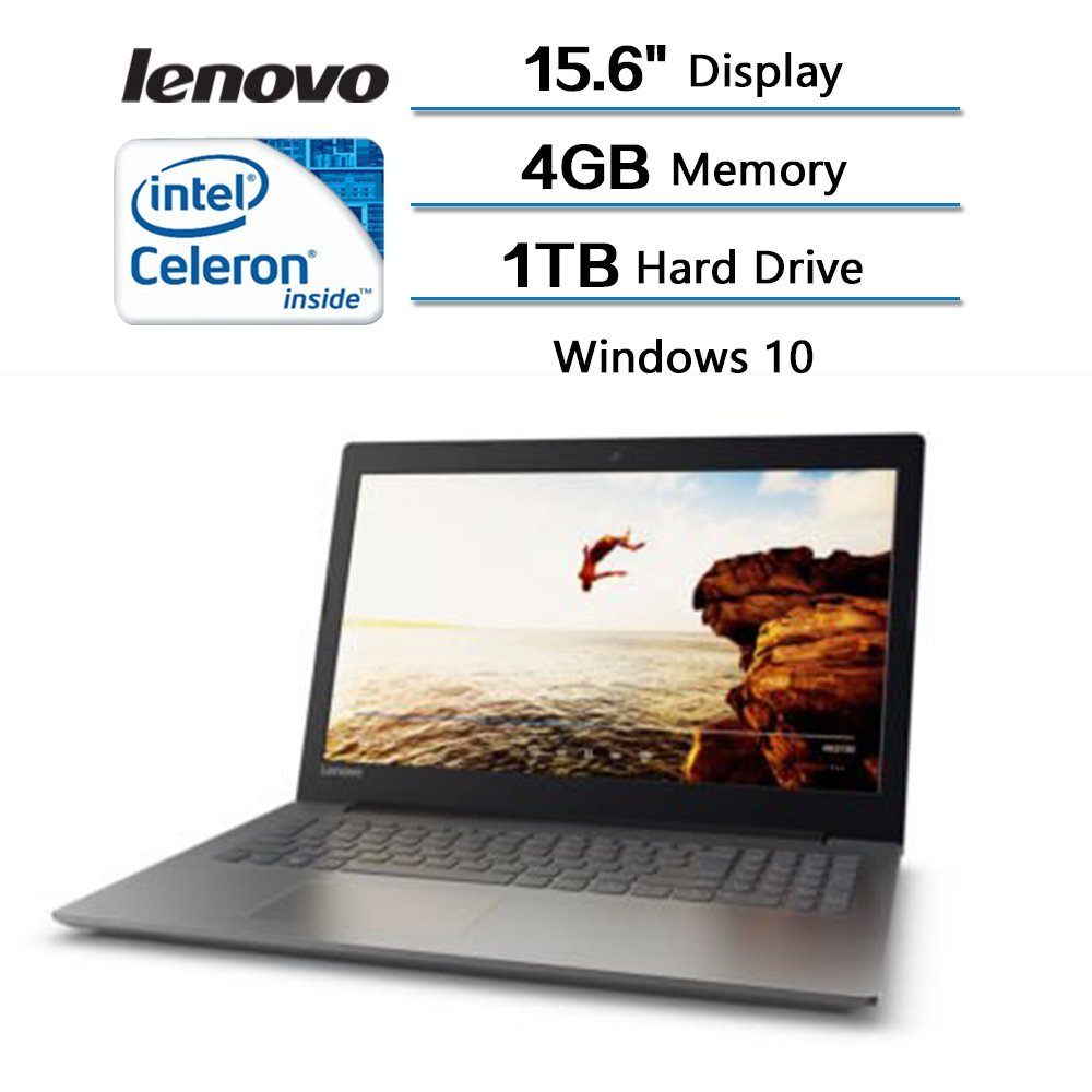 2018 Lenovo Flagship High Performance IdeaPad 320 15.6 inches Laptop (1366x768) with 3x Faster WiFi, Intel Celeron Dual Core N3350 Processor 2.40GHz, Intel HD Graphics 500, 1TB HDD,4GB RAM, Windows 10