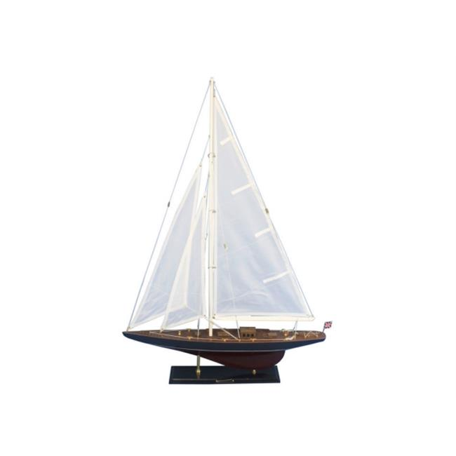 Handcrafted Model Ships END-R-35 Wooden Endeavour Model Sailboat Decoration 35 in. by Handcrafted Model Ships