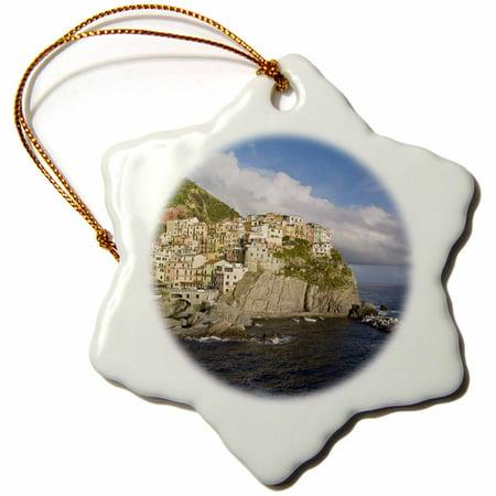 3dRose Italy, Cinque Terre, Manarola. Village cliff - EU16 BTH0127 - Brenda Tharp - Snowflake Ornament, (Best Small Villages In Italy)