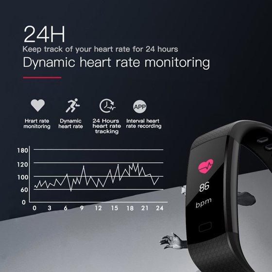 Fitness Tracker Watch Withssure,Colorful Screen,Step Counter,Sleep  Monitor,GPS Waterproof Tracker Purple For Women Men Children Purple