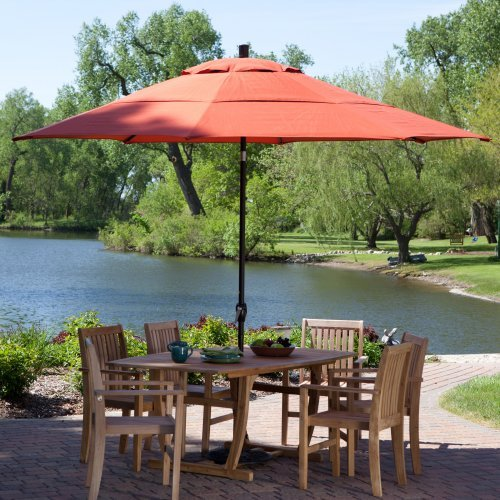 Coral Coast 11 Ft. Patio Umbrella With Push Button Tilt
