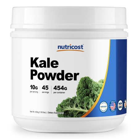 Kalm Powder (Nutricost Kale Powder 1LB - All Natural, Non-GMO, Gluten Free, Pure, Premium Kale )