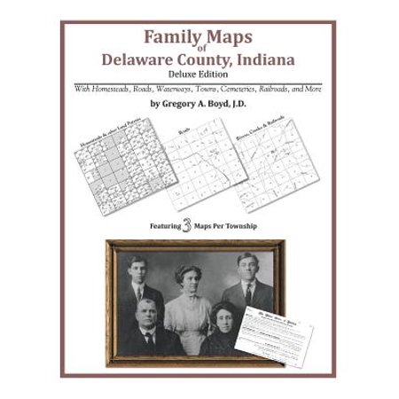 Tippecanoe County Indiana Map (Family Maps of Delaware County, Indiana)