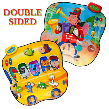 Dimple Double Sided Animal Bus & 1-Man-Band Playable Touch Sensitive Music Mat with 20 Sounds & 6 Songs by Dimple - Halloween Marching Band Songs