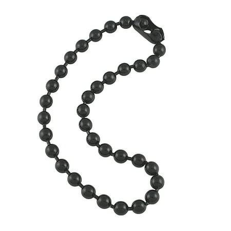 9.5mm Extra Large Gunmetal Steel Ball Chain Mens Necklace with Extra Durable Color Protect Finish - 18 inches