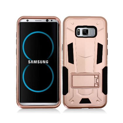 Rose Gold Contempo Tech Stand Case For Samsung Galaxy S8 Phone