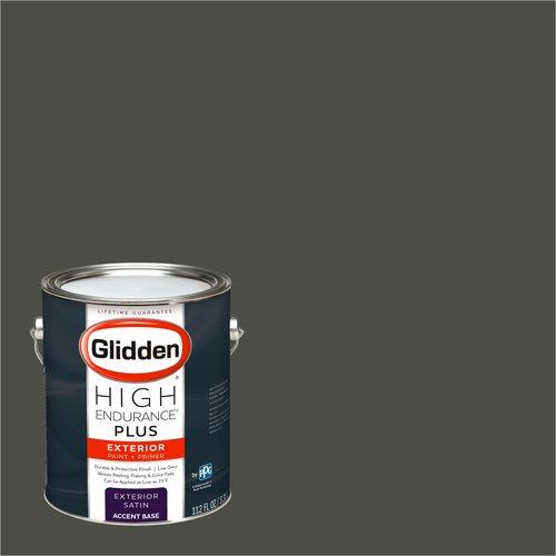 Glidden High Endurance Plus, Exterior Paint, FOREST BLACK / , # 30YY 10/038