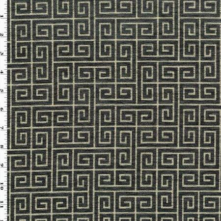 Night Sky/Beige Robert Allen Plush Keys Decorating Fabric, Fabric By the (Robert Allen Drapery Fabric)