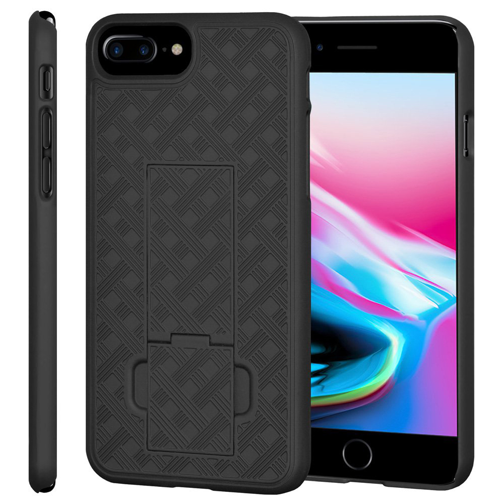 Amzer Snap-On Hard Case with Kickstand for Apple iPhone 8 Plus